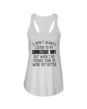 I DON'T ALWAYS LISTEN TO MY CONNECTICUT WIFE Ladies Flowy Tank thumbnail