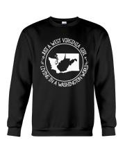 WEST VIRGINIA GIRL LIVING IN WASHINGTON WORLD Crewneck Sweatshirt thumbnail