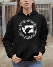 WEST VIRGINIA GIRL LIVING IN WASHINGTON WORLD Hooded Sweatshirt apparel-hooded-sweatshirt-lifestyle-07