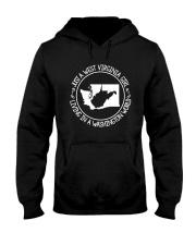 WEST VIRGINIA GIRL LIVING IN WASHINGTON WORLD Hooded Sweatshirt front