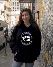 WEST VIRGINIA GIRL LIVING IN WASHINGTON WORLD Hooded Sweatshirt lifestyle-unisex-hoodie-front-1