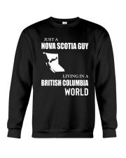 JUST A NOVA SCOTIA GUY LIVING IN BC WORLD Crewneck Sweatshirt thumbnail