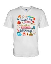 CANADIAN GIRLS SUNSHINE MIXED HURRICANE V-Neck T-Shirt thumbnail