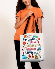 CANADIAN GIRLS SUNSHINE MIXED HURRICANE All-over Tote aos-all-over-tote-lifestyle-front-06