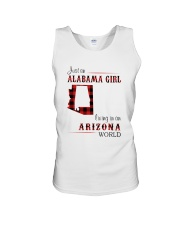 ALABAMA GIRL LIVING IN ARIZONA WORLD Unisex Tank thumbnail