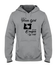 JUST A TEXAS GIRL IN AN OREGON WORLD Hooded Sweatshirt thumbnail