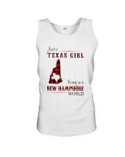 TEXAS GIRL LIVING IN NEW HAMPSHIRE WORLD Unisex Tank thumbnail