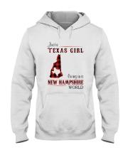 TEXAS GIRL LIVING IN NEW HAMPSHIRE WORLD Hooded Sweatshirt thumbnail