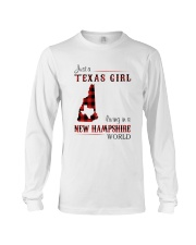 TEXAS GIRL LIVING IN NEW HAMPSHIRE WORLD Long Sleeve Tee thumbnail