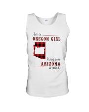OREGON GIRL LIVING IN ARIZONA WORLD Unisex Tank thumbnail