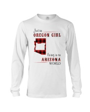 OREGON GIRL LIVING IN ARIZONA WORLD Long Sleeve Tee thumbnail