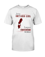 ONTARIO GIRL LIVING IN SWEDISH WORLD Classic T-Shirt tile