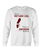 ONTARIO GIRL LIVING IN SWEDISH WORLD Crewneck Sweatshirt thumbnail