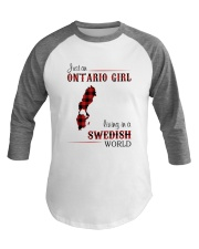 ONTARIO GIRL LIVING IN SWEDISH WORLD Baseball Tee thumbnail