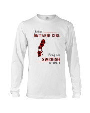 ONTARIO GIRL LIVING IN SWEDISH WORLD Long Sleeve Tee tile