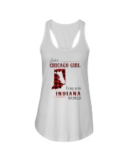 CHICAGO GIRL LIVING IN INDIANA WORLD Ladies Flowy Tank thumbnail
