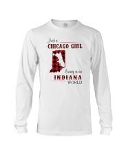 CHICAGO GIRL LIVING IN INDIANA WORLD Long Sleeve Tee thumbnail