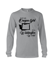 JUST AN OREGON GIRL IN A WASHINGTON WORLD Long Sleeve Tee thumbnail