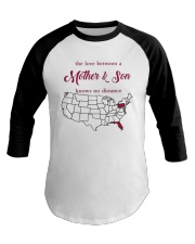 PENNSYLVANIA FLORIDA THE LOVE MOTHER AND SON Baseball Tee tile