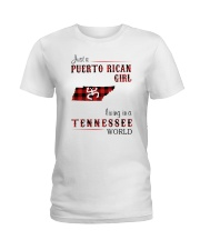 PUERTO RICAN GIRL LIVING IN TENNESSEE WORLD Ladies T-Shirt thumbnail