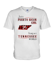 PUERTO RICAN GIRL LIVING IN TENNESSEE WORLD V-Neck T-Shirt thumbnail