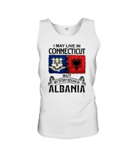 LIVE IN CONNECTICUT BEGAN IN ALBANIA Unisex Tank thumbnail
