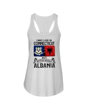 LIVE IN CONNECTICUT BEGAN IN ALBANIA Ladies Flowy Tank thumbnail
