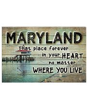 MARYLAND THAT PLACE FOREVER IN YOUR HEART 17x11 Poster front