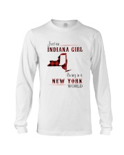 INDIANA GIRL LIVING IN NEW YORK WORLD Long Sleeve Tee thumbnail