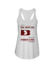 JERSEY GIRL LIVING IN PENNSYLVANIA WORLD Ladies Flowy Tank thumbnail