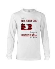 JERSEY GIRL LIVING IN PENNSYLVANIA WORLD Long Sleeve Tee thumbnail