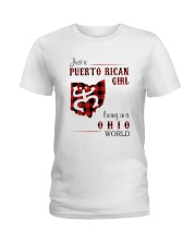 PUERTO RICAN GIRL LIVING IN OHIO WORLD Ladies T-Shirt thumbnail