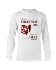PUERTO RICAN GIRL LIVING IN OHIO WORLD Long Sleeve Tee thumbnail