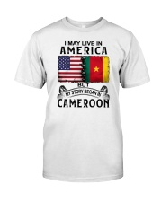 LIVE IN AMERICA BEGAN IN CAMEROON Classic T-Shirt tile