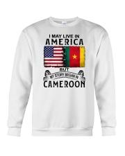 LIVE IN AMERICA BEGAN IN CAMEROON Crewneck Sweatshirt thumbnail