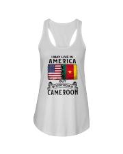 LIVE IN AMERICA BEGAN IN CAMEROON Ladies Flowy Tank thumbnail