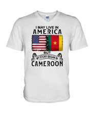 LIVE IN AMERICA BEGAN IN CAMEROON V-Neck T-Shirt thumbnail