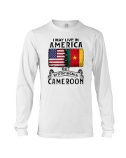 LIVE IN AMERICA BEGAN IN CAMEROON Long Sleeve Tee thumbnail