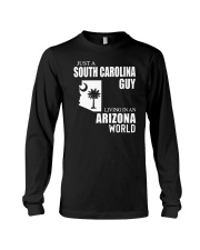 JUST A SOUTH CAROLINA GUY LIVING IN ARIZONA WORLD Long Sleeve Tee tile