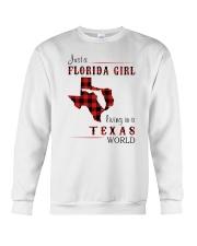 FLORIDA GIRL LIVING IN TEXAS WORLD Crewneck Sweatshirt thumbnail