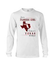 FLORIDA GIRL LIVING IN TEXAS WORLD Long Sleeve Tee thumbnail