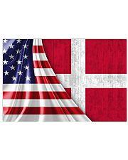 DENMARK AND UNITED STATES FLAG 36x24 Poster thumbnail