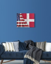 DENMARK AND UNITED STATES FLAG 14x11 Gallery Wrapped Canvas Prints aos-canvas-pgw-14x11-lifestyle-front-06