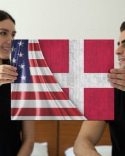 DENMARK AND UNITED STATES FLAG 14x11 Gallery Wrapped Canvas Prints aos-canvas-pgw-14x11-lifestyle-front-31