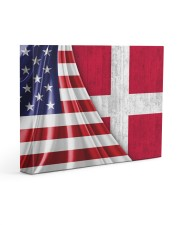 DENMARK AND UNITED STATES FLAG 14x11 Gallery Wrapped Canvas Prints front