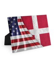 DENMARK AND UNITED STATES FLAG 10x8 Easel-Back Gallery Wrapped Canvas thumbnail