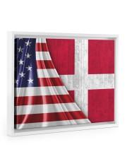 DENMARK AND UNITED STATES FLAG 14x11 White Floating Framed Canvas Prints thumbnail