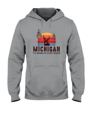 MICHIGAN IT'S WHERE MY STORY BEGINS Hooded Sweatshirt thumbnail