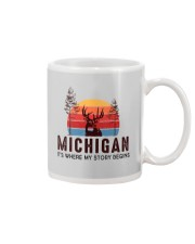 MICHIGAN IT'S WHERE MY STORY BEGINS Mug tile