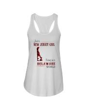 JERSEY GIRL LIVING IN DELAWARE WORLD Ladies Flowy Tank thumbnail